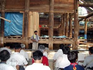 重要文化財一乗寺本堂修理現場 演習